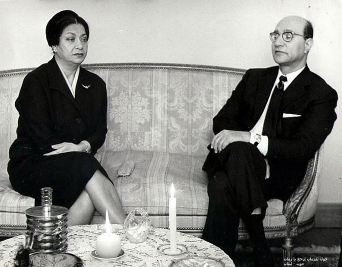 محمد عبدالوهاب وأم كلثوم