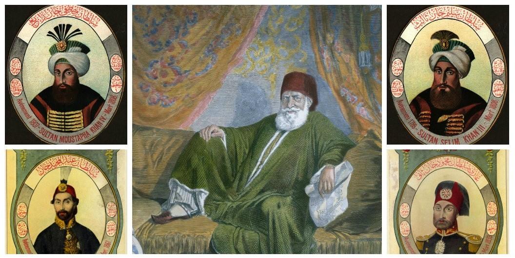 محمد علي باشا والسلاطين الذين حضرهم