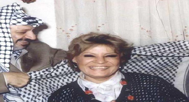 نادية لطفي - ياسر عرفات