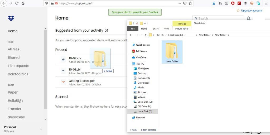 كيفية رفع الملفات على Dropbox من خلال جهاز الكمبيوتر أو الهاتف الذكي