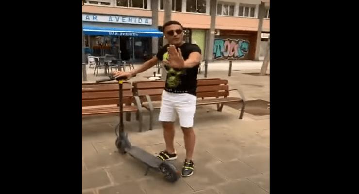 محمد علي في فيديو الاسكوتر