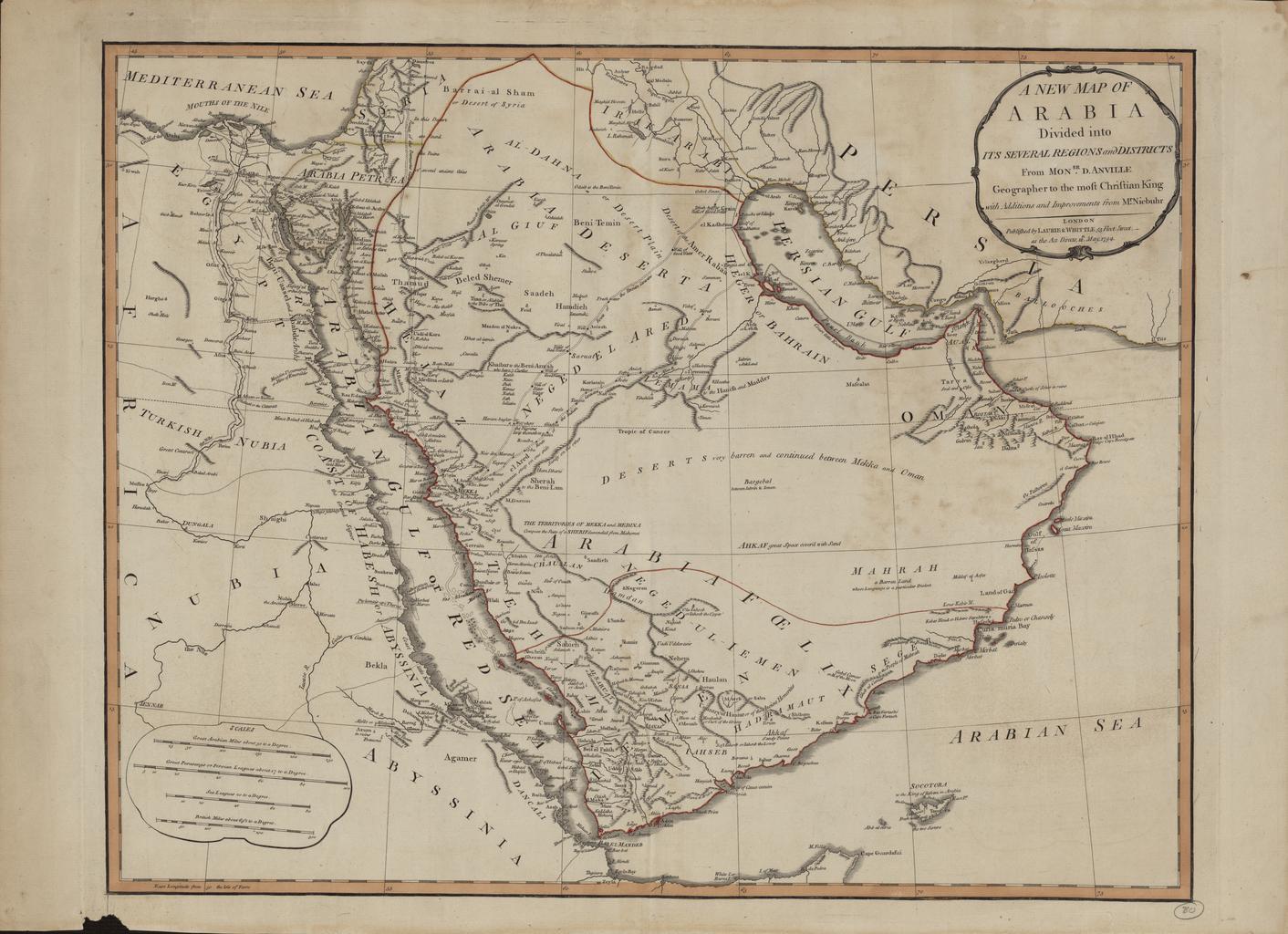 خريطة شبه الجزيرة العربية