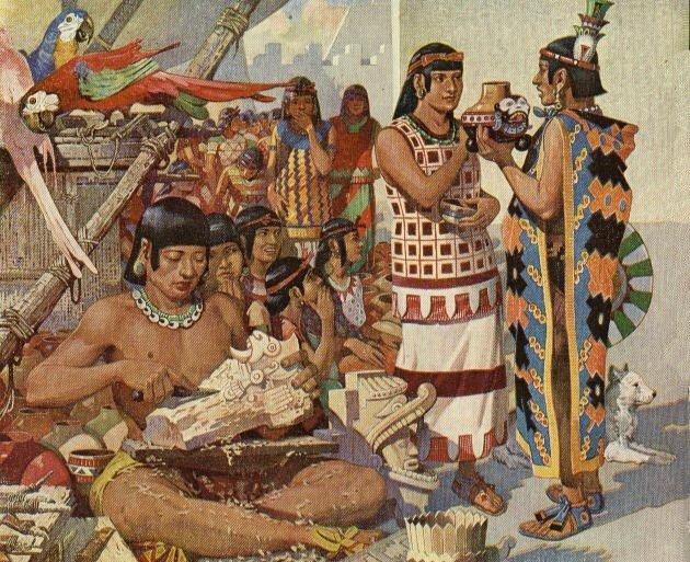رسم تصوري لـ شعب المايا