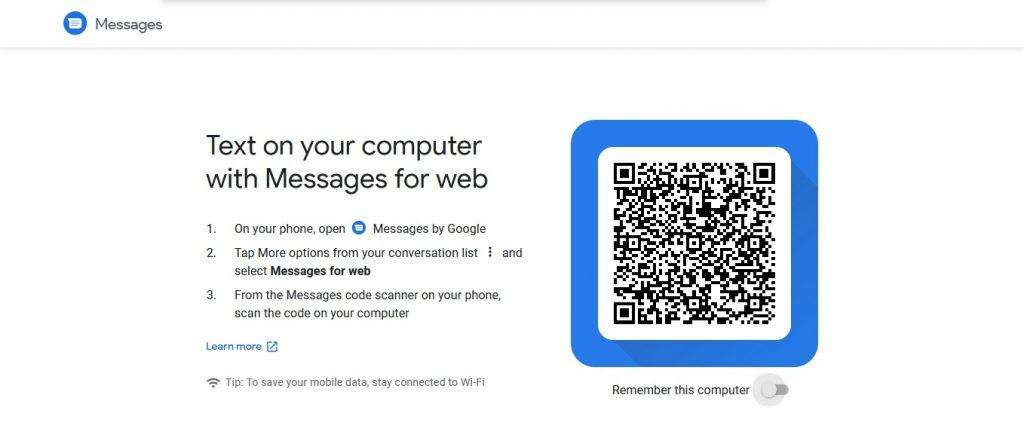 كيفية إرسال الرسائل النصية من الويب من خلال استخدام Android Messages على الكمبيوتر