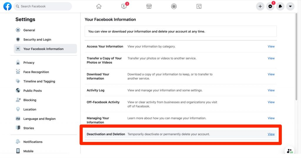كيفية حذف حساب فيسبوك نهائيا مع الاحتفاظ بنسخة كاملة من صورك ومنشوراتك
