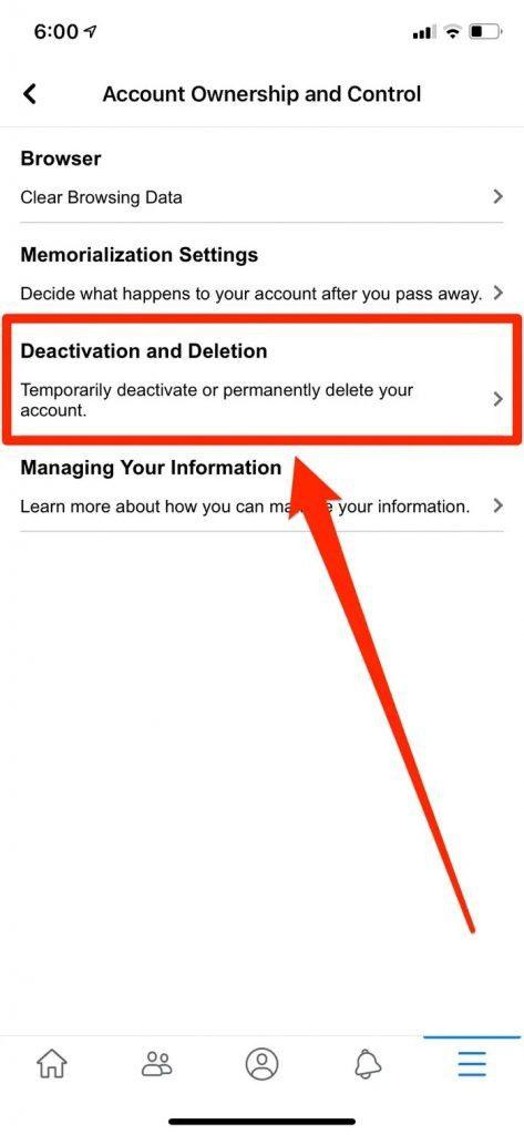 Facebook Account Deletion