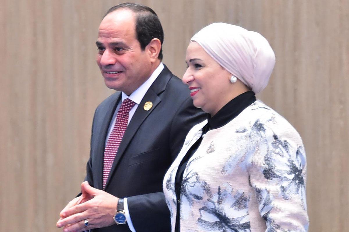 الرئيس السيسي وزوجته