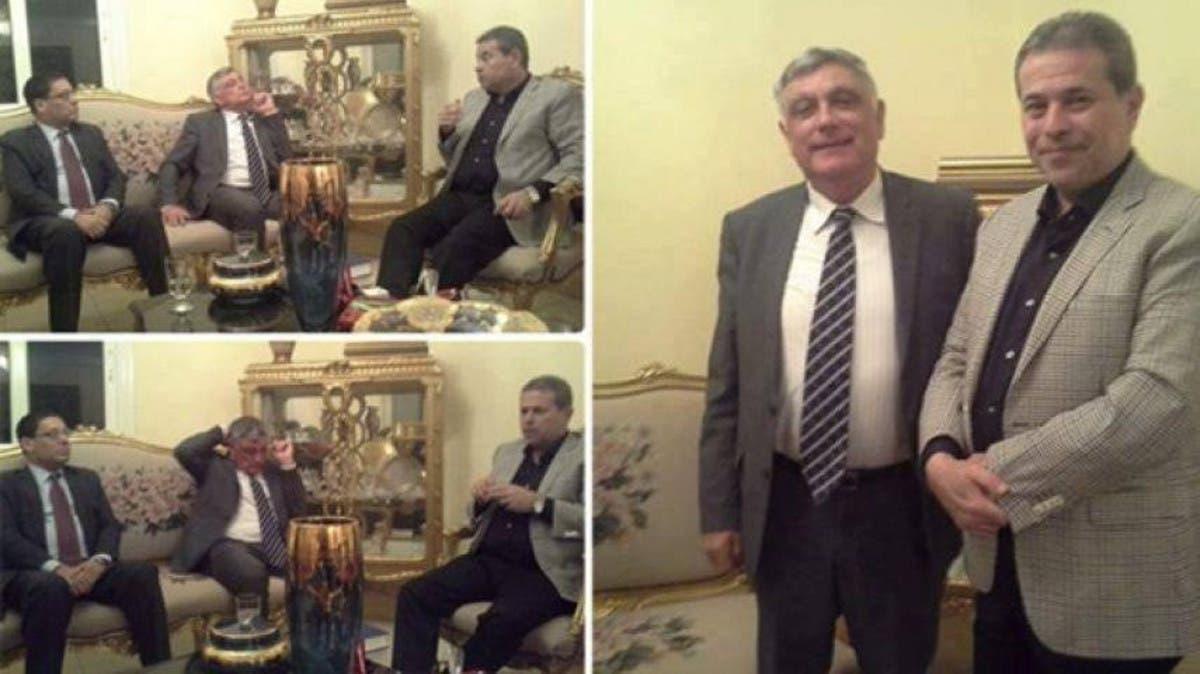 توفيق عكاشة مع السفير الاسرائيلي