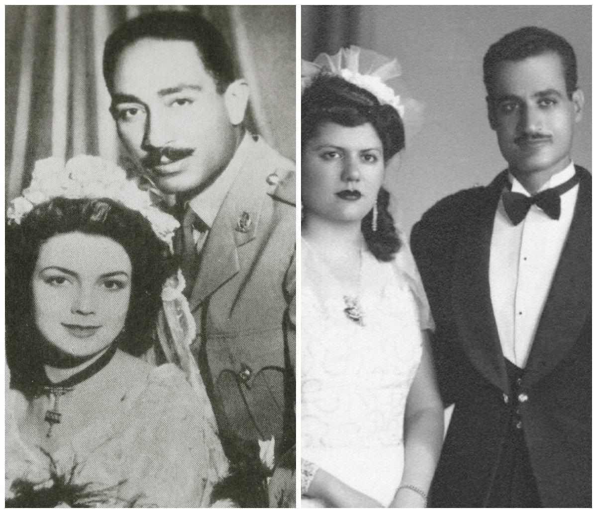 جمال عبدالناصر وحرمه - السادات وزوجته
