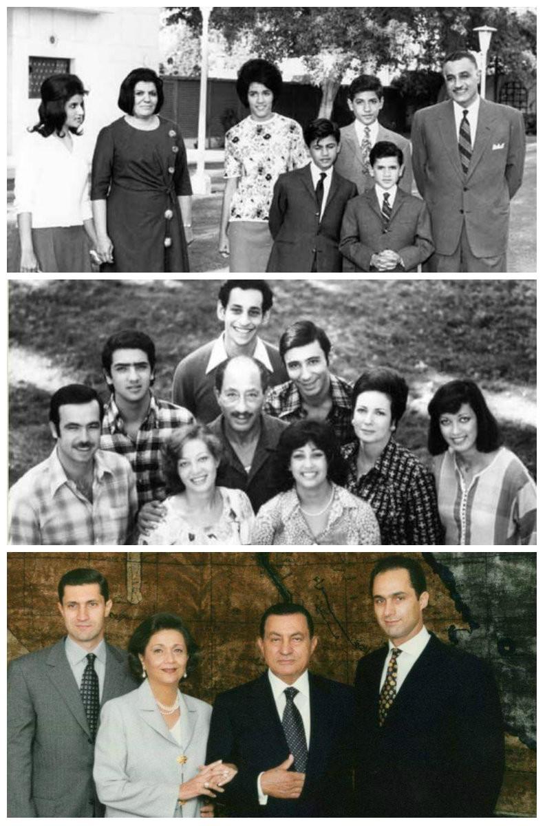 رؤساء مصر وعائلاتهم