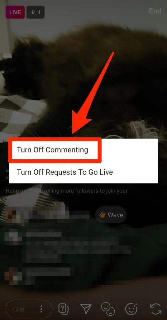 منع التعليقات على بث انستجرام حتى تتمكن من البث المباشر دون تشتت