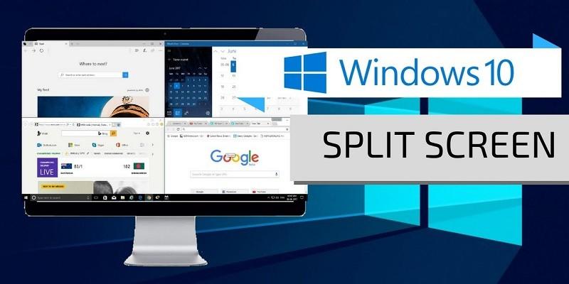 كيفية تقسم الشاشة في ويندوز 10 وعرض حتى أربع نوافذ على الشاشة في نفس الوقت