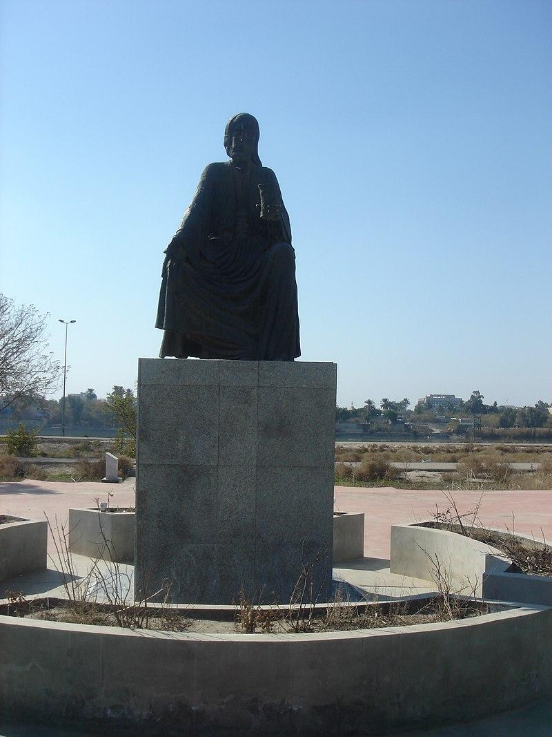 تمثال للشاعر أبو نؤاس في العاصمة العراقية بغداد