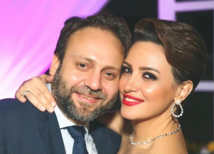 ريهام عبد الغفور وزوجها رجل الأعمال
