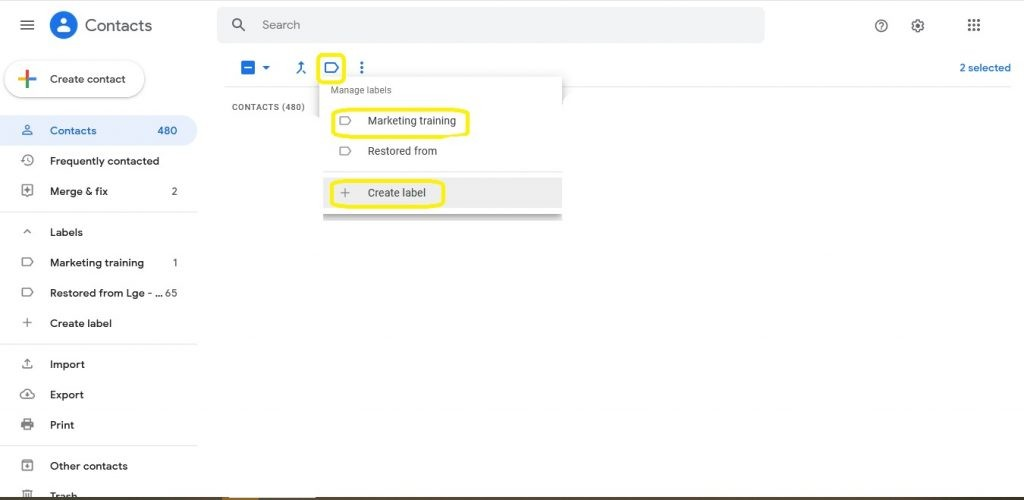 كيفية انشاء مجموعة بريد إلكتروني في بريد جوجل يدويًا أو باستخدام جهات الاتصال