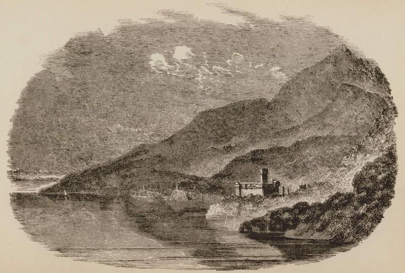 الجانب الشمالي الغربي من جبل آتوس عام 1849م