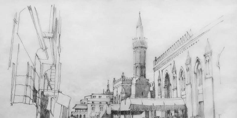 رسمة مسجد الحسين