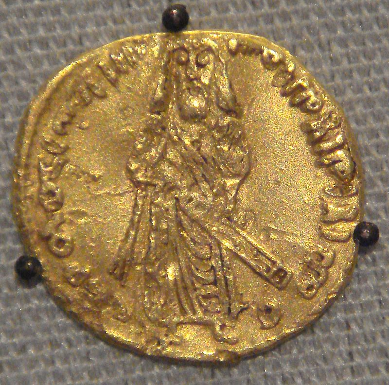 صورة الخليفة عبد الملك بن مروان منقُوشة على أول دينار إسلامي سك في عهده