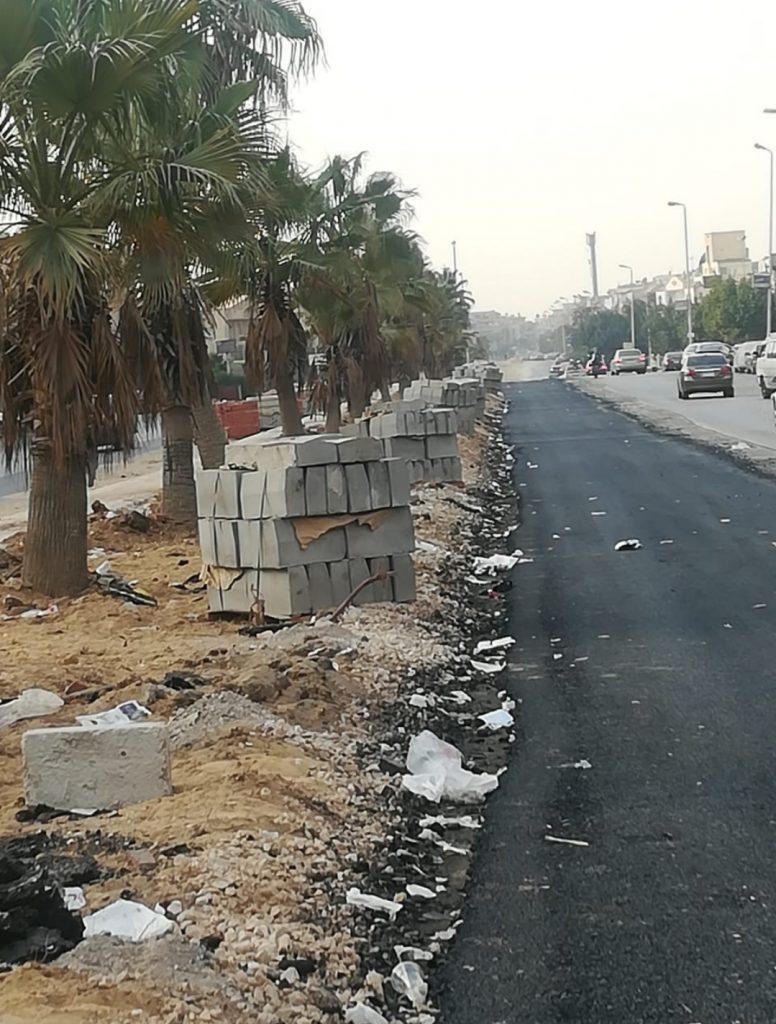 تقطيع الأشجار في المدن الجديدة لتوسعة الطرق
