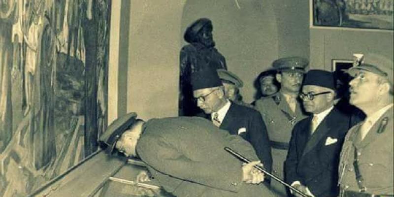 الملك فاروق يفتتح المتحف الحربي
