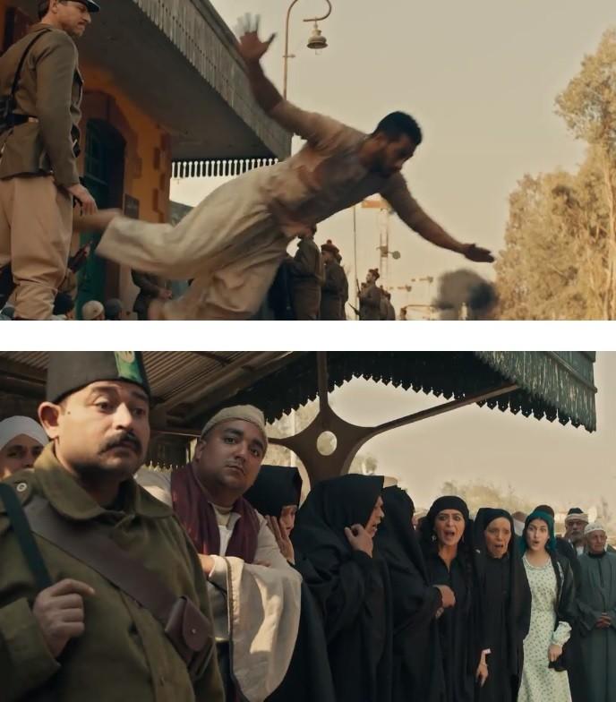 مشهد القفزة وخطأ الممثلين