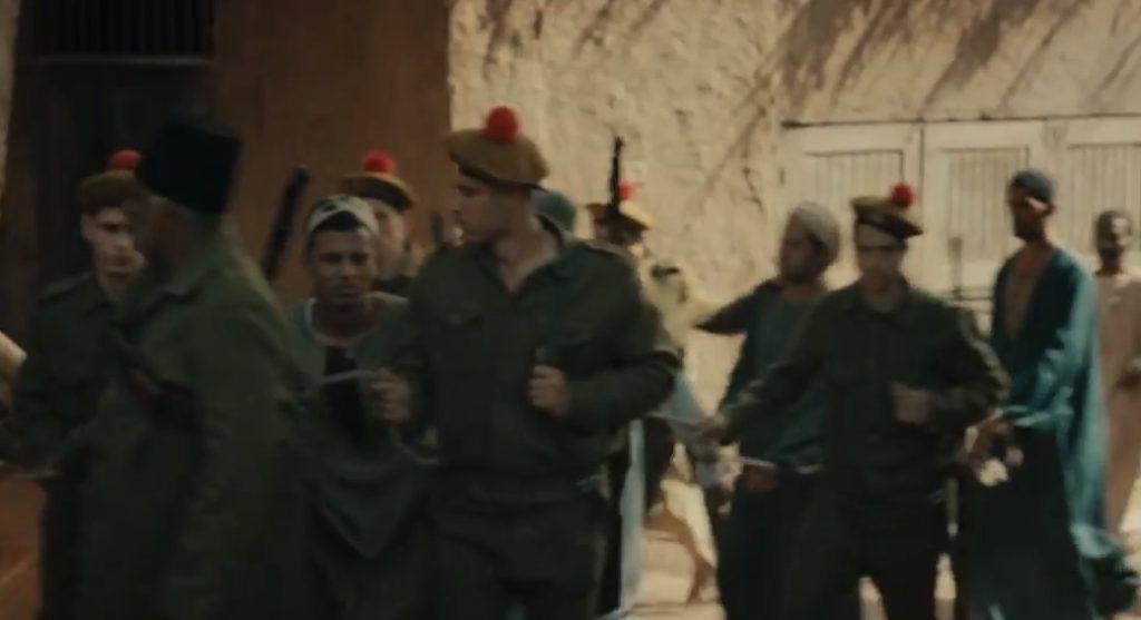 مشهد تجنيد المصريين في مسلسل موسى