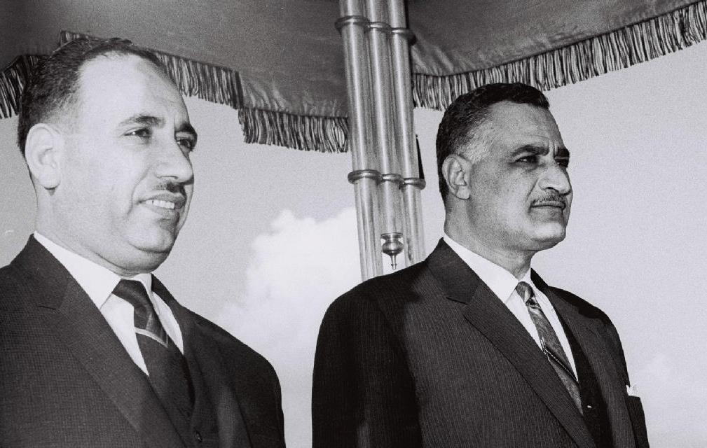 جمال عبدالناصر وعبدالسلام عارف