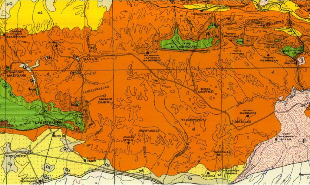 خريطة بلاد الفتوى الماردينية