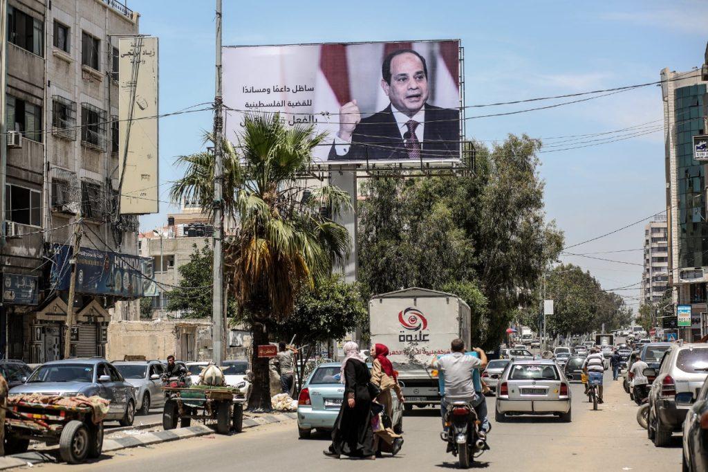 صور السيسي في غزة
