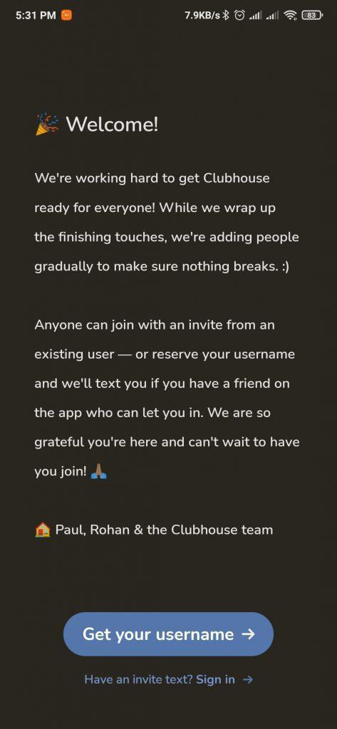 كيفية استخدام تطبيق Clubhouse على الاندرويد