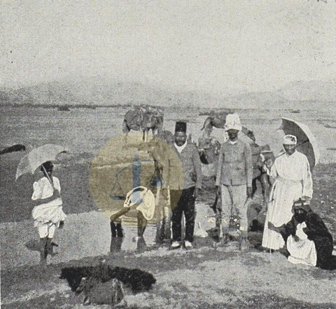 إبراهيم باشا رفعت عند عين ينبع النخل