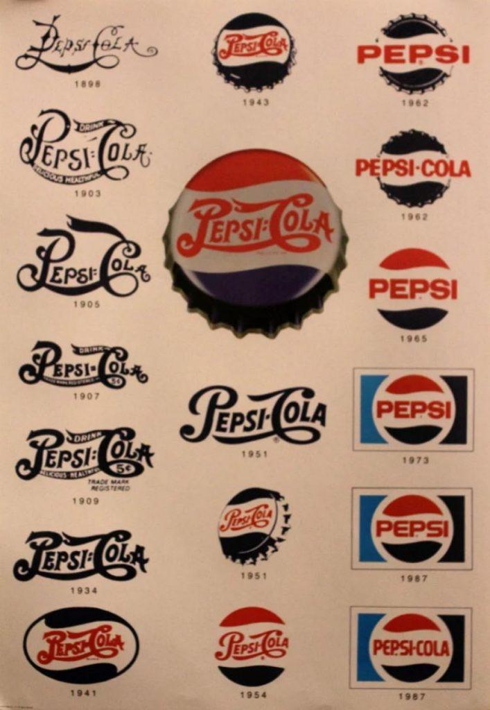 تطور شعار شركة بيبسي
