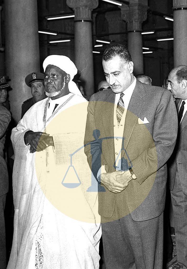 جمال عبدالناصر والشيخ إبراهيم إنياس الكولخي