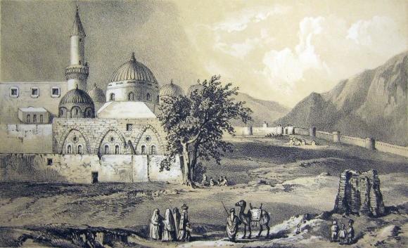 رسمة للمسجد النبوي في القرن الثامن عشر