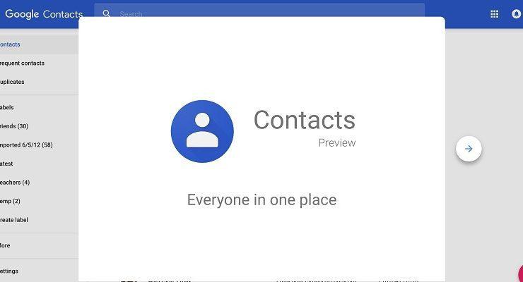 حذف جهات الاتصال المكررة أو تنظيمها عبر خدمات Google Contacts