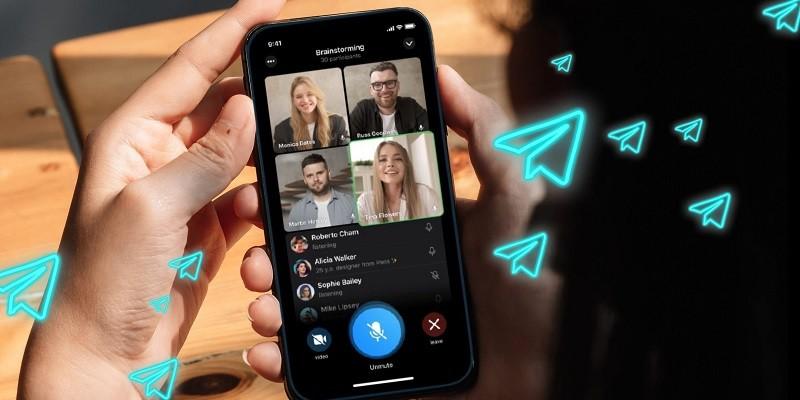 كيفية انشاء مكالمة فيديو جماعية في تليجرام
