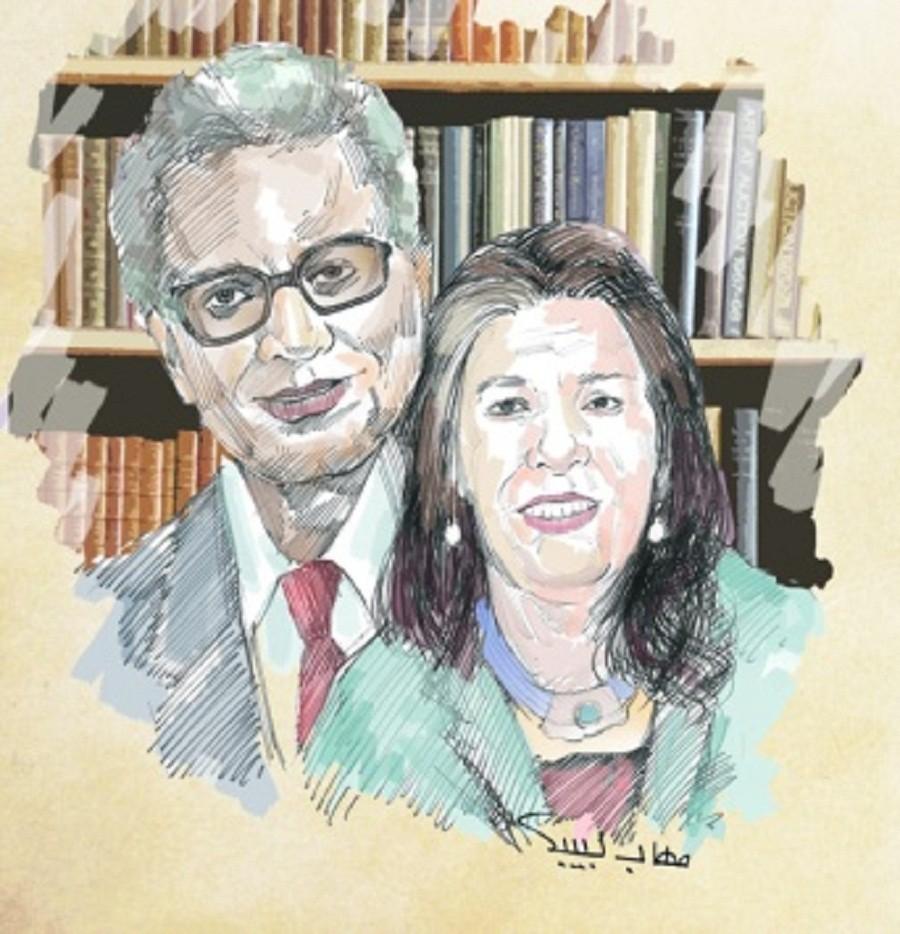الكاتبة فتحيـة العسال وزوجها