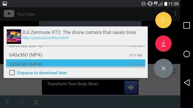 تحميل الفيديوهات على هواتف اندرويد